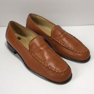 Anne Klein Leather Loafers Size 7 Medium